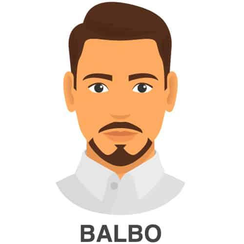 Balbo Facial Hair Style