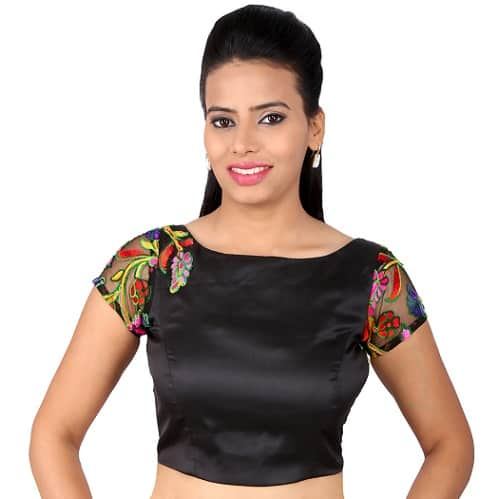 Bengali Silk Plain Black Blouse