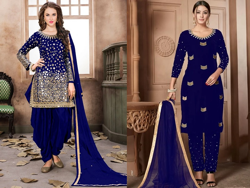 Blue Salwar Suits Look Bright In These 15 Beautiful Designs This mesmerising banarasi silk dupatta will add oodles of drama to your bridal look making all heads turn. blue salwar suits look bright in