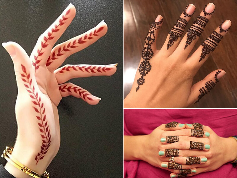 mehndi design on fingers easy