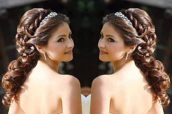 Indian Wedding Hairstyle for Long Hair