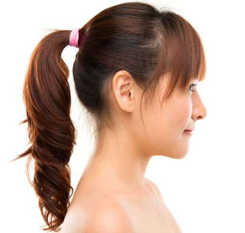 Innocent Ponytail with Bang