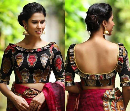 20 Front Neck Blouse Designs It S Time To Try Something Trendy
