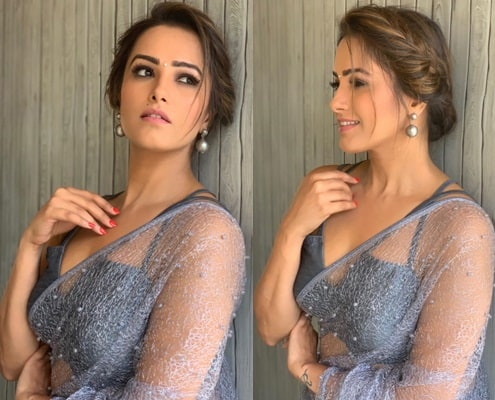 Side Braided Messy Bun for Saree