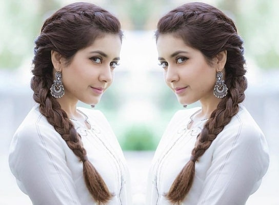 Neat Braided Indian Hairstyle for Long Hair