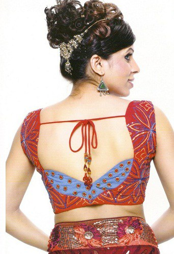 Red Traditional Looking Blouse Design