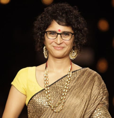 Curly Short Hairstyle with Saree