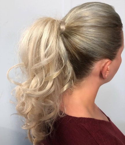 Tied Up Pony Haircut for Thin Hair