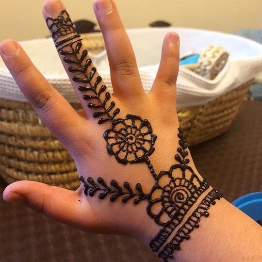 Mehndi Design For Kids 2021