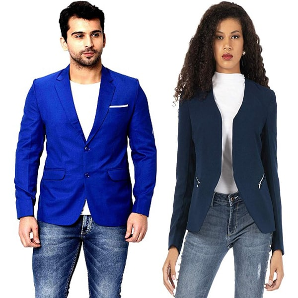 With blue color pants what blazer light What Color