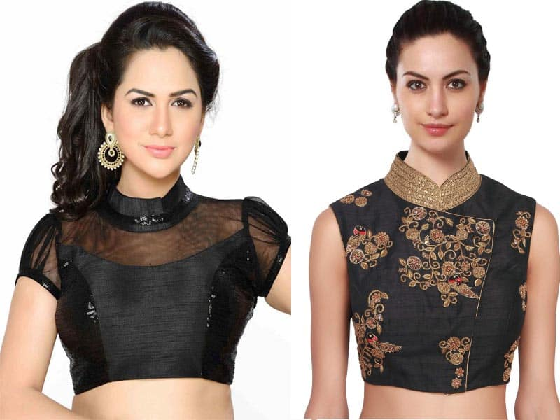 18 Different Collar Neck Blouse Designs To Give Modern Look