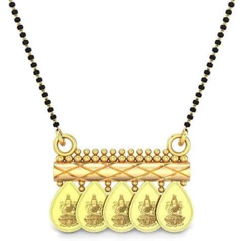 22K Short Gold Mangalsutra Design