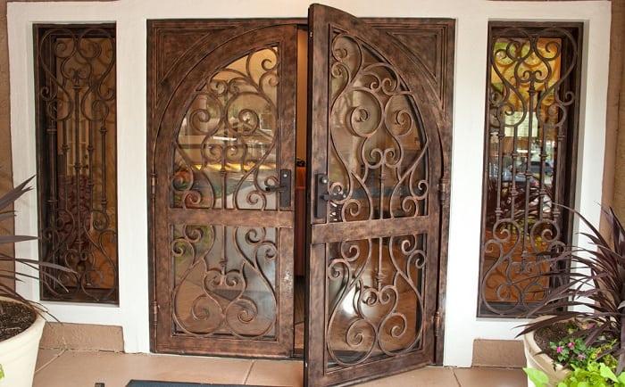 Decorative Iron Door Designs