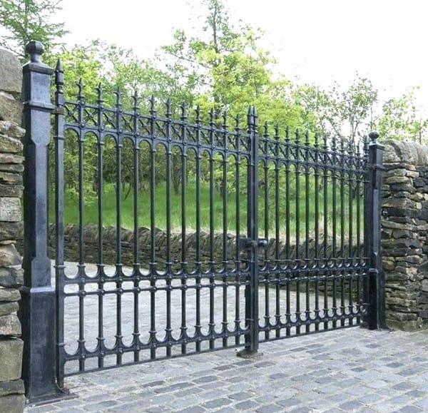 Double Door Iron Gate