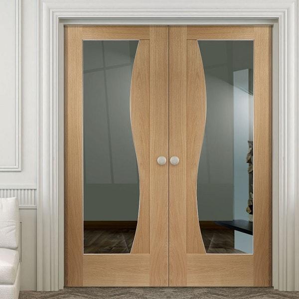 Flush Door Designs With glass