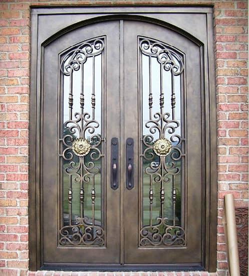 Iron Front Door Design