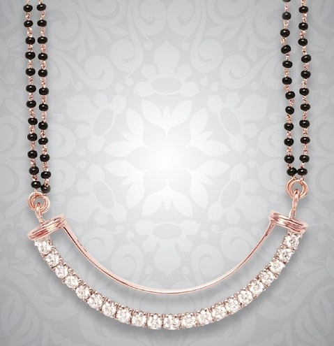 Rose Gold North Indian Mangalsutra