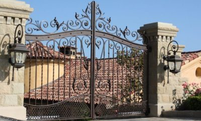 latest wrought iron gate designs