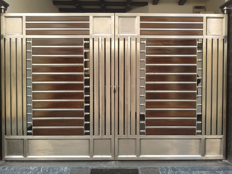 15 Modern Steel Gate Designs For Home With Pictures