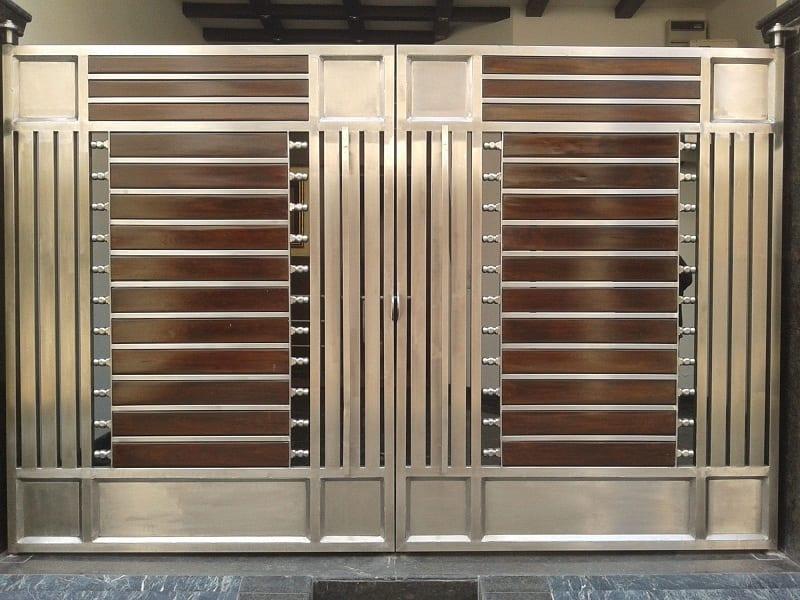 15 Modern Steel Gate Designs For Home