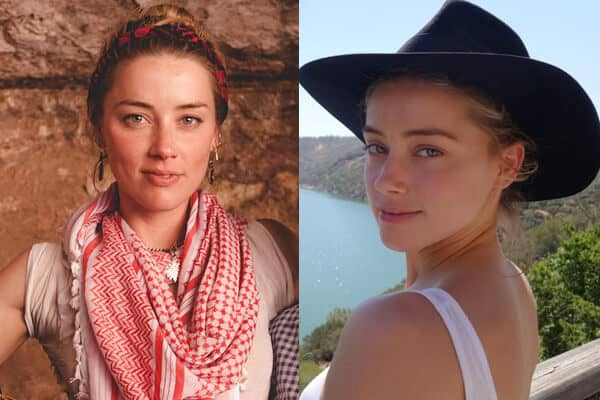 Film Star Amber Heard without Makeup