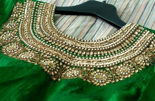 Blouse With Elegant Kundan Work