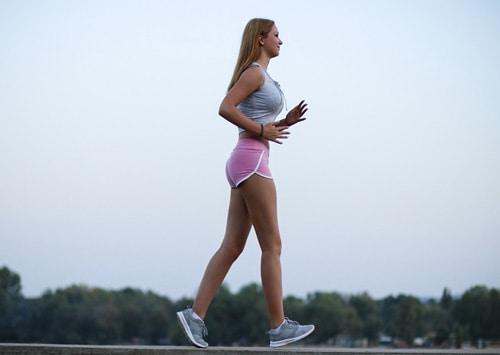 Brisk walking for blood circulation