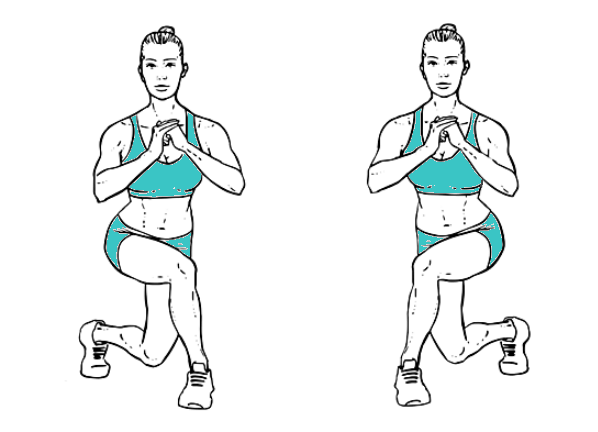 Curtsy Lunges 12 Best Exercises To Reduce Saddlebags Quickly At Home