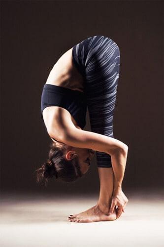 forward fold pose for blood circulation