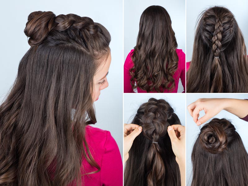 Half Top Knot Hairstyle