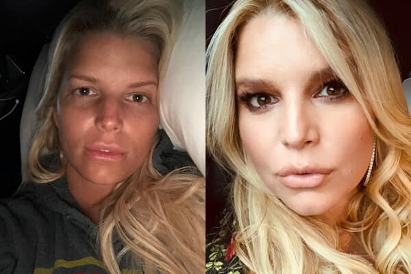 Celebrity Jessica Simpson without Makeup