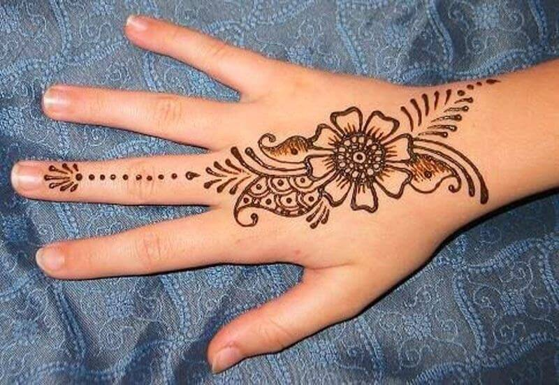 SIMPLE MEHENDI FOR HANDS