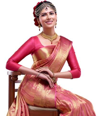 Plain Silk Saree Blouse Design
