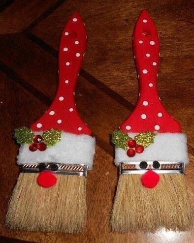 Santa Paint Brush