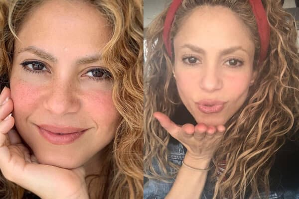 Singer Shakira Picture without Makeup