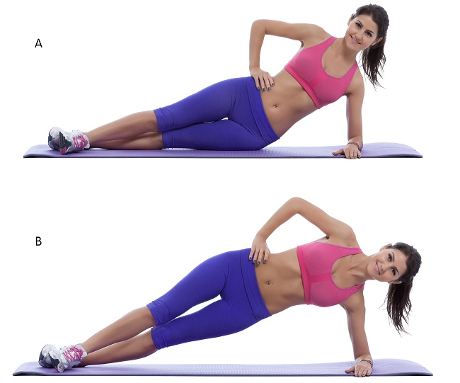 side plank hip lift 12 Best Exercises To Reduce Saddlebags Quickly At Home