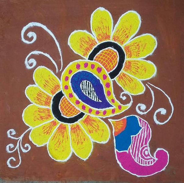 Colourful Rangoli Design