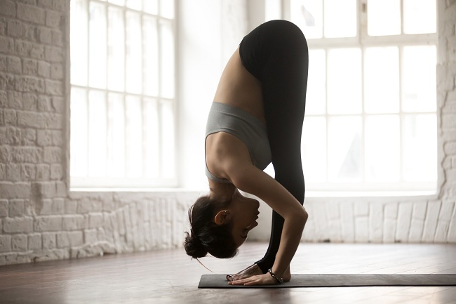Forward Bend - stretches to increase height