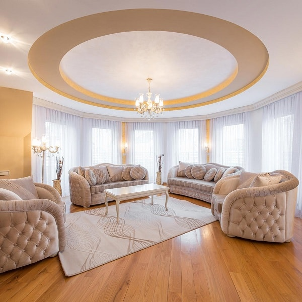 creative living room ceiling designs ideas | 15 Creative Living Room Ceiling Ideas To Try In 2020