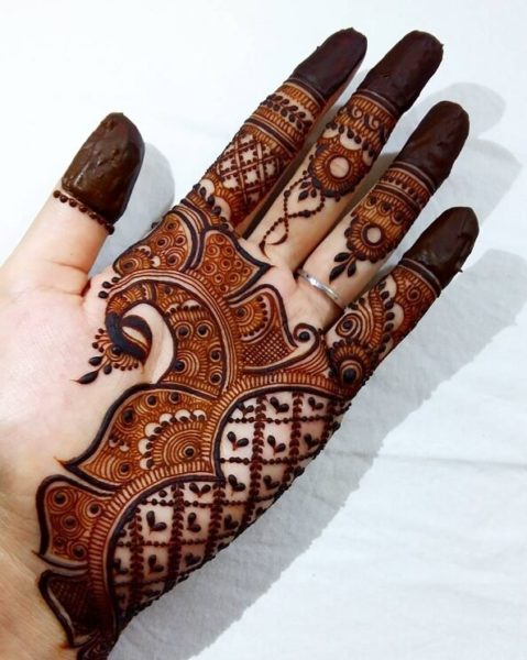 arabic hand mehndi design front