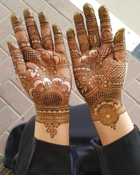 half hand arabic mehndi design