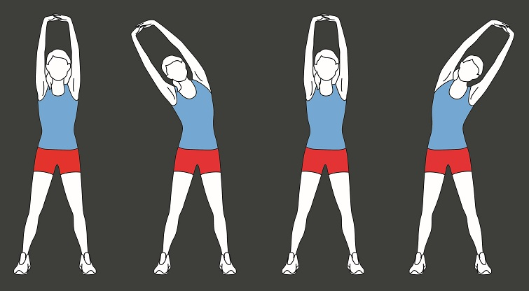 Side Stretch Exercise 1 - stretches to improve height