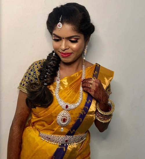 South Indian Look for Long Hair