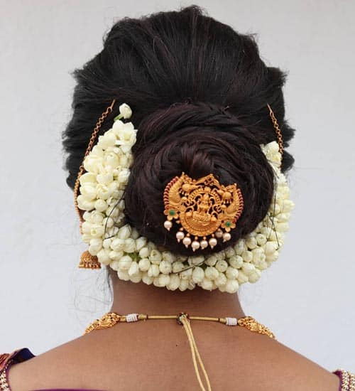 South Indian Bridal Hairstyles 7