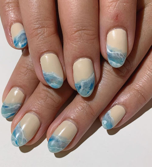 Summer Nail Art Designs Beach Water 1