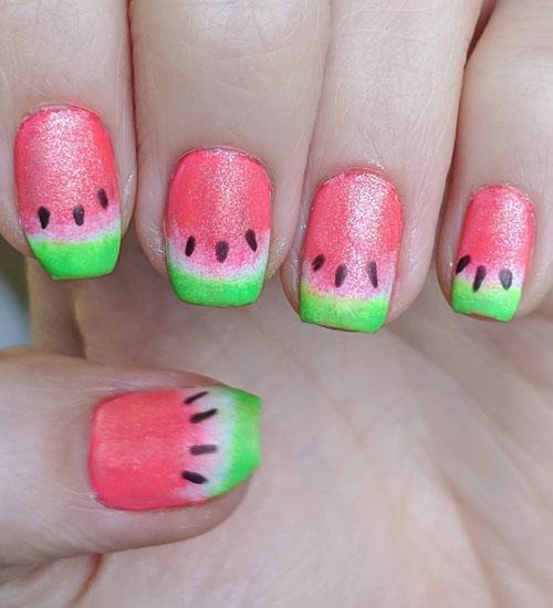 Summer Nail Art Designs Watermelon