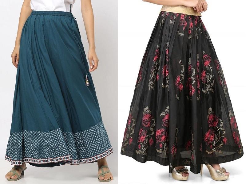 Knee Length Skirt Black SKirt High Waisted Skirt Cotton Skirt Short Skirt Elegant Skirt Designer Skirt Flare Skirt Friends Fashion