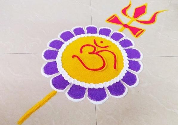 Traditional Rangoli Design For Beginners