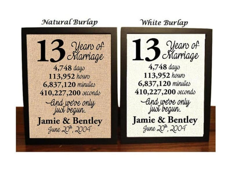 40 Best 13th Wedding Anniversary Gifts for Women and Men