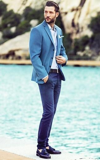 Blue Blazer with Jeans
